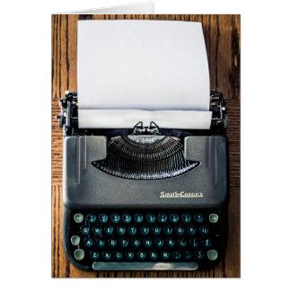 Carte Ajoutez votre propre texte au papier de machine à