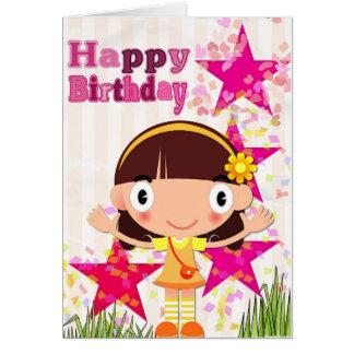 Carte Ajoutez votre propre texte : Fille d'anniversaire