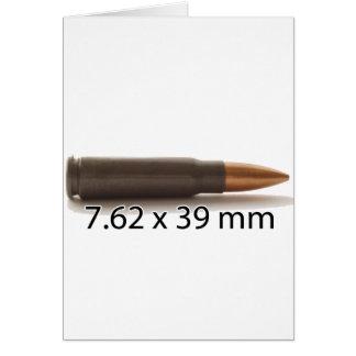 Carte AK47 munitions de 7,62 x de 39mm rondes