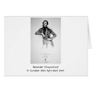 Carte Alexandre Dreyschock 1845