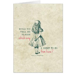 Carte Alice au pays des merveilles