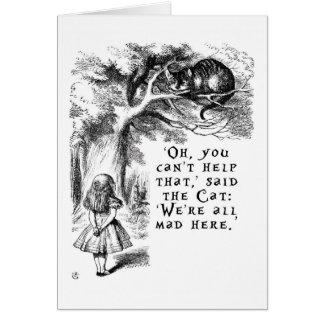 Carte Alice au pays des merveilles - nous sommes tous