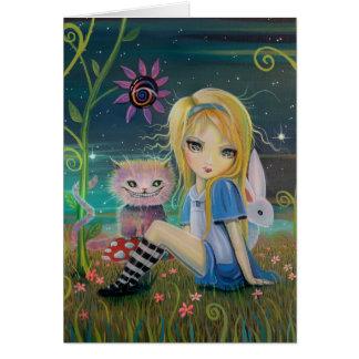 Carte Alice dans l'art original de conte de fées