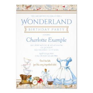 Carte Alice dans l'invitation de fête d'anniversaire du
