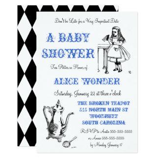 Carte Alice dans l'invitation du pays des merveilles