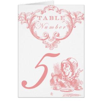 Carte Alice rose dans des nombres de Tableau de mariage