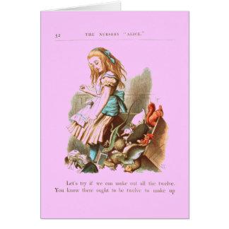 Carte Alice vintage au pays des merveilles