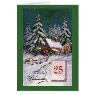 """Carte Allemand vintage de """"Frohliche Weihnachten"""""""