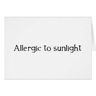 Carte Allergique à la lumière du soleil