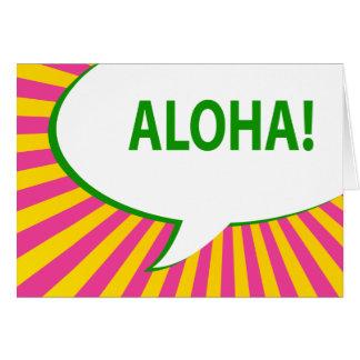 Carte aloha ! : bulle comique de la parole