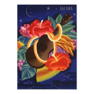 Carte Aloha économies le Hawaïen tropical Hawaï de nuit