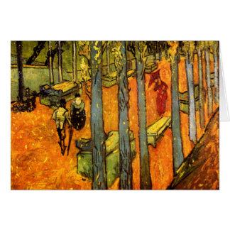 Carte Alyscamps par Vincent van Gogh
