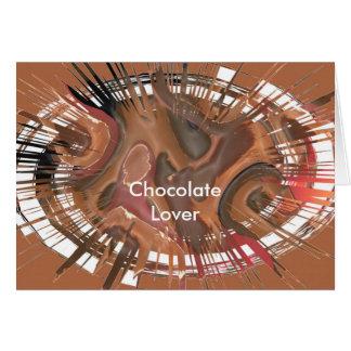 Carte Amant de chocolat