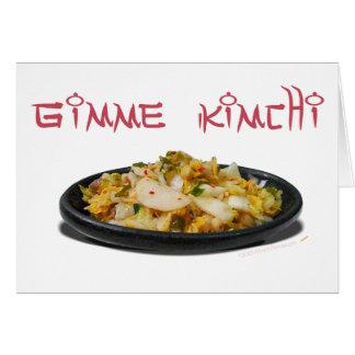 Carte Amants de Gimme Kimchi Kimchi