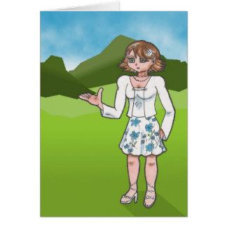 Carte Ambre, caractère de galerie d'art d'anime
