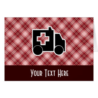 Carte Ambulance rouge de plaid