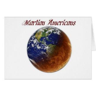 Carte Américains martiens