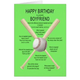 Carte Ami, plaisanteries de base-ball d'anniversaire