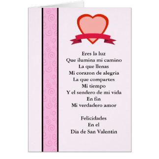 Carte Amor de verdadero de San Valentin MI