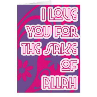 Carte amour dans l'intéret d'Allah