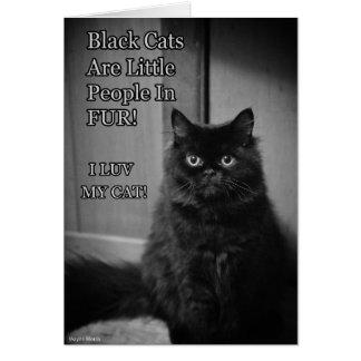 Carte Amour de chats noirs