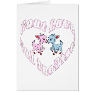 Carte Amour de chèvre