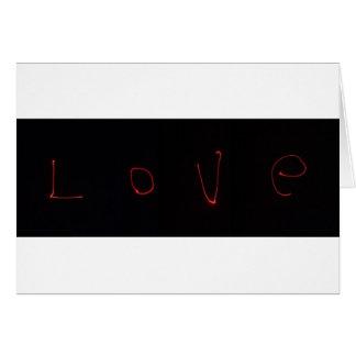 Carte amour de laser