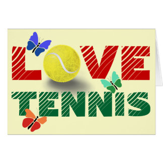 Carte Amour de tennis
