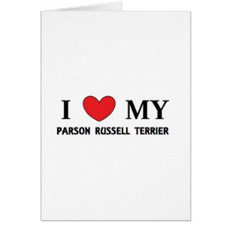 Carte amour de terrier de Russell de pasteur