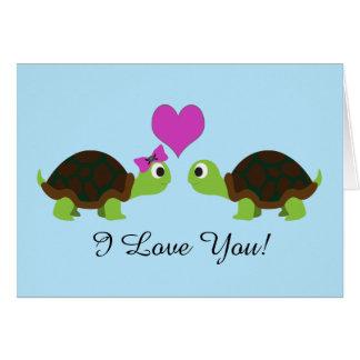 Carte Amour de tortue