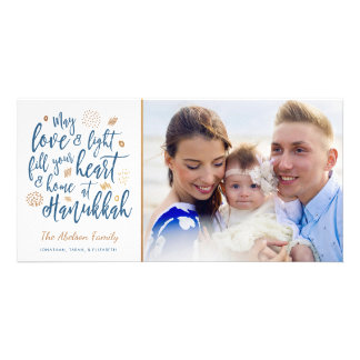 Carte Amour et Hanoukka léger Photocard