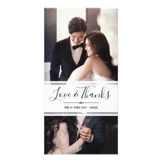 Carte Amour et mercis élégants épousant le collage de