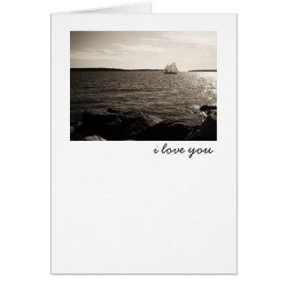 Carte Amour et voiliers