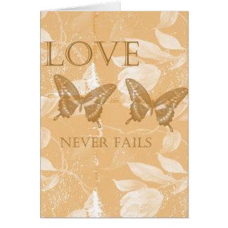 Carte Amour floral inspiré de pêche