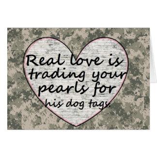 Carte Amour militaire