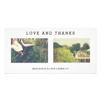 Carte Amour moderne et mercis épousant le collage de