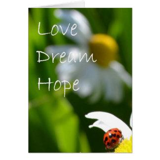 Carte Amour, rêve, espoir