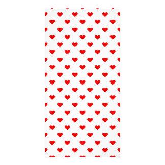 Carte Amour rouge de motif de coeur