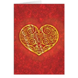 Carte Amour tourbillonné