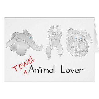 Carte Amoureux des animaux de serviette