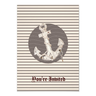 Carte Ancre beige nautique de très bon goût de plage de