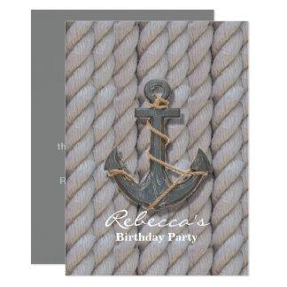 Carte ancre en bois de plage de marine de très bon goût