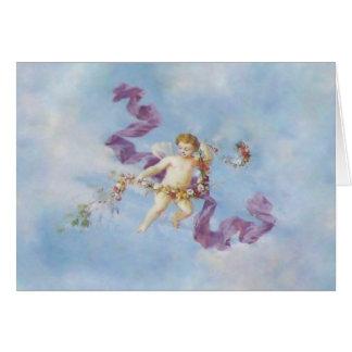 Carte Ange dans des cartes/invitations de ~ de ciel