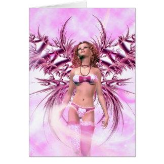 Carte Ange dans l'imaginaire rose