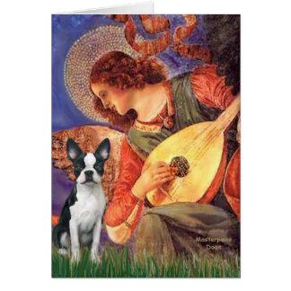 Carte Ange de mandoline - Boston Terrier #1