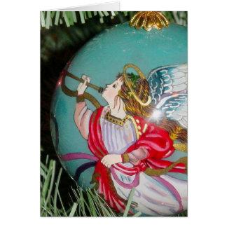 Carte Ange de Noël - art de Noël - décorations d'ange
