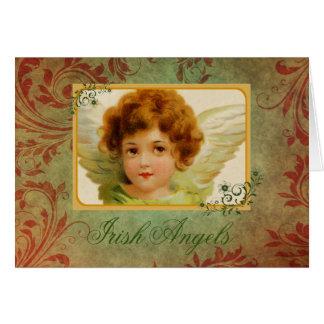 Carte Ange et bénédiction irlandais vintages adorables