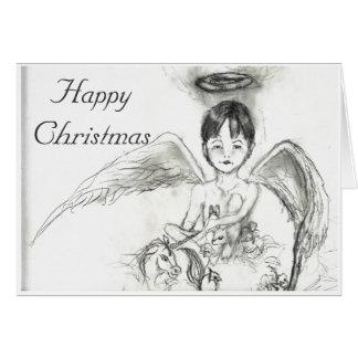 Carte Ange Noé Taylor, Noël heureux