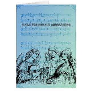 Carte Anges musicaux vintages