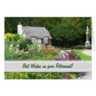Carte anglaise de retraite de jardin